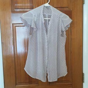 H&M Polka Dot Blouse - Size 10